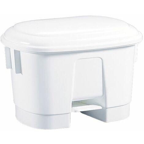 Derby 30L White Plastic Pedal Bin 348020 - SBY14763