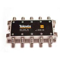 Derivador 8 direcciones 18 dB (planta 1) tipo TA conectores F Televes 5146
