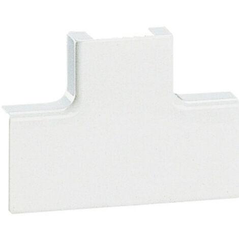 Dérivation en T à plat pour moulure DLPlus 32x12,5mm blanc (030254)