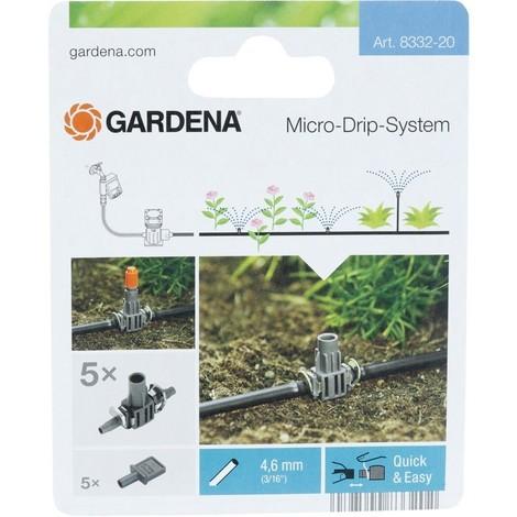 Dérivation en T pour Buse de pulvérisation Micro-Drip-System Noir/Argent 35 x 20 x 19 cm 08332-20 - Gardena