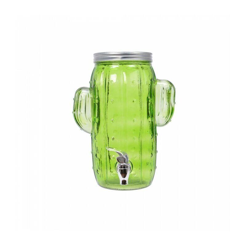 *derniere unites* bocal en verre avec robinet modèle cactus 16 x 20 x 29 cms.