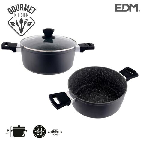 *derniere unites* casserole anti-adhésive ø20x9cm 4,2mm épaisseur professional line edm