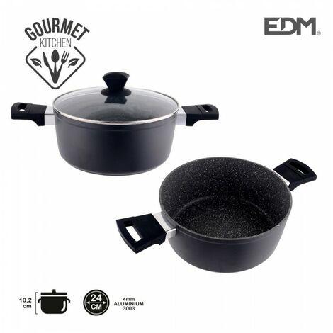 *derniere unites* casserole antiádhésive ø24x10,2cm 4,2mm épaisseur professional line edm