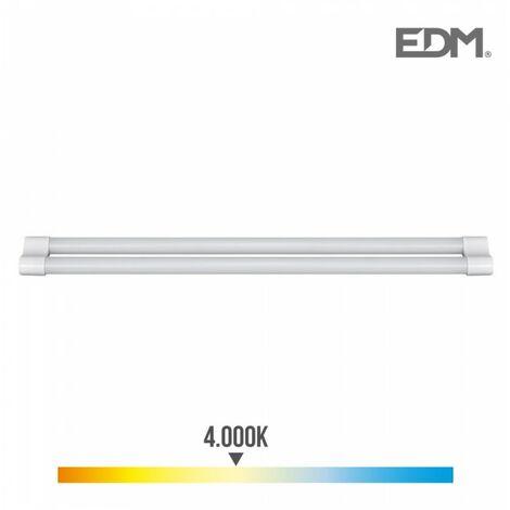 *derniere unites* réglette led avec tube 2x18w t8 4.000k l. jour 3.400 lumens edm