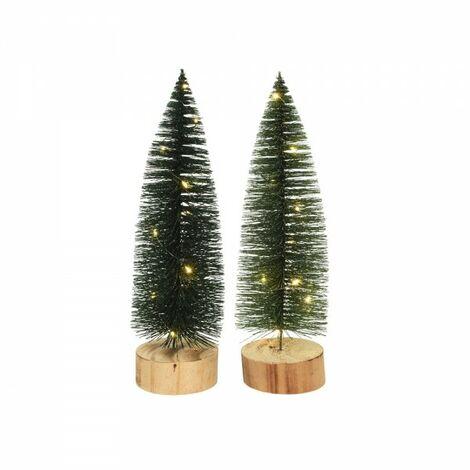 """main image of """"*dernières unités* mini arbre avec 10 leds et base en bois 30cm"""""""