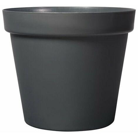 DEROMA Pot de fleur rond Grandé - Ø 58 x H 51,5 cm - 90 L - Gris anthracite
