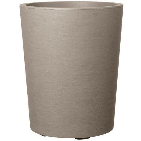 DEROMA Pot de fleur Vaso Gravity avec réserve d'eau H 53.5 cm - Taupe