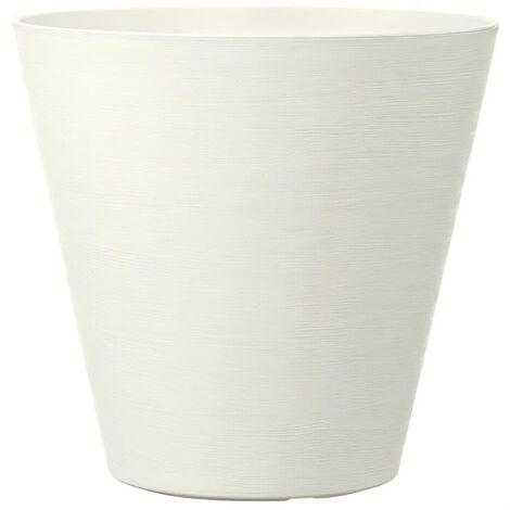 DEROMA Pot de fleurs a reserve d'eau Save R Bianco - 20 cm