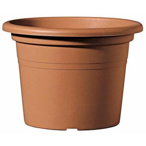 DEROMA Pot de fleurs rond Day R cotto - Coloris terre rouge - 30cm