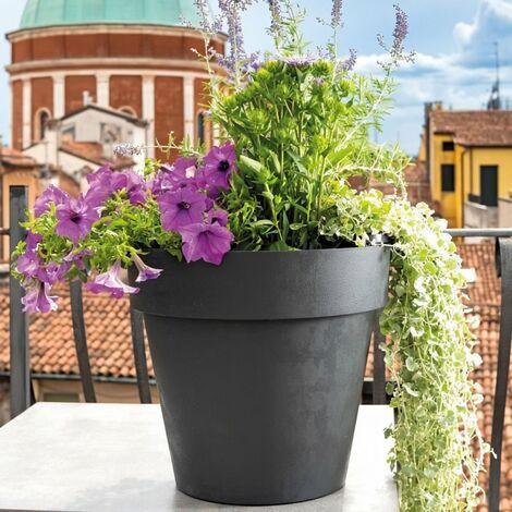 DEROMA Pot de fleurs rond Like Anthracite - 30 cm