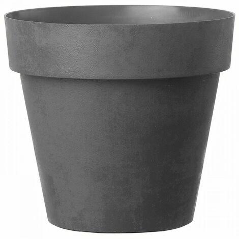 DEROMA Pot de fleurs rond Like Anthracite - 38 cm