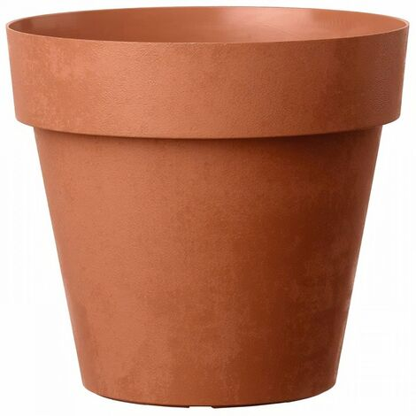 DEROMA Pot de fleurs rond Like Corten - 15 cm