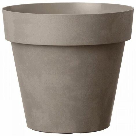 DEROMA Pot de fleurs rond Like Taupe - 30 cm