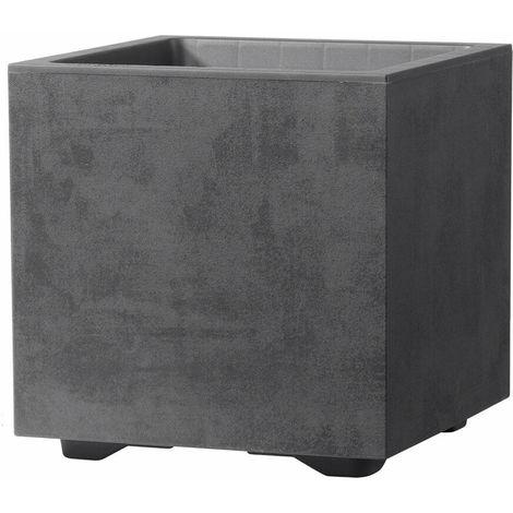 """main image of """"Deroma Vaso Cubo Millenium Antracite 25x25x25 cm"""""""