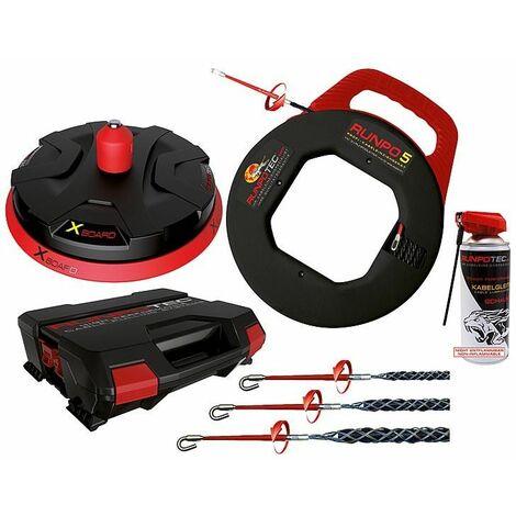 Derouleur de cable RUNPOTEC RUNMPO 5-30m + derouleur XB300 + chaussette de traction