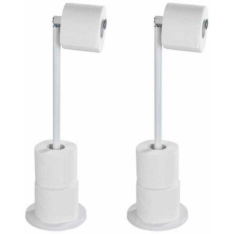 Dérouleur-papier WC 2en1 blanc