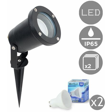 Derwent IP65 Outdoor Spike Light with LED Bulbs - Pack of 8