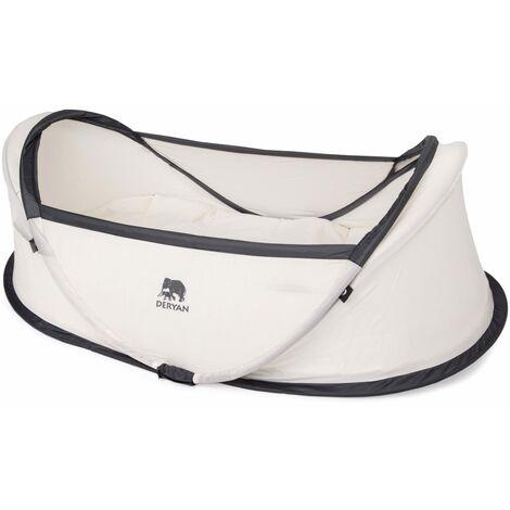 DERYAN Cuna de viaje desplegable Infant Baby con mosquitera crema