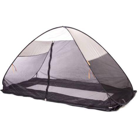 DERYAN Mosquitera plegable para cama color crema 200x90x110 cm