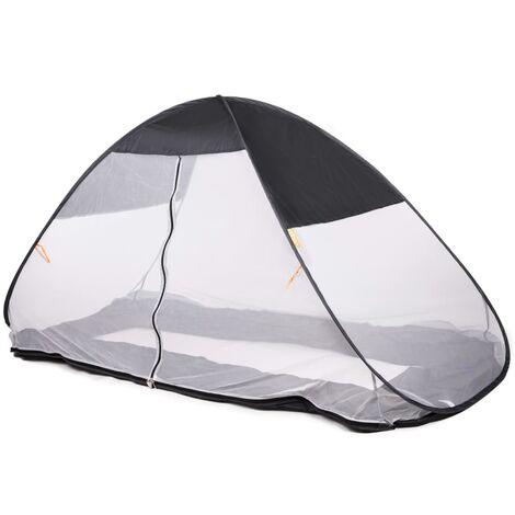 DERYAN Mosquitera plegable para cama gris 200x90x110 cm