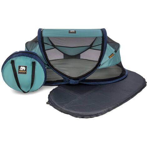 DERYAN Pop-up Baby Travel Cot with Mosquito Net Luxe 2020 Ocean Blue