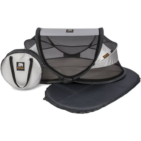 DERYAN Pop-up Baby Travel Cot with Mosquito Net Luxe 2020 Silver