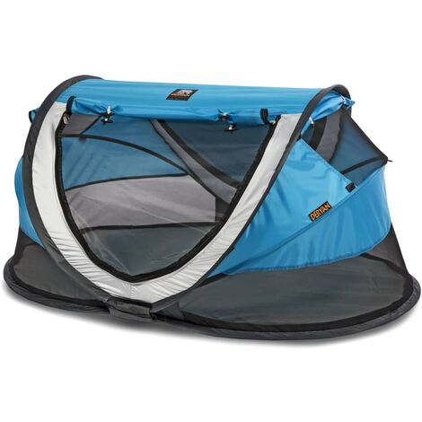 DERYAN Pop-up Travel Cot Peuter Luxe with Mosquito Net Blue