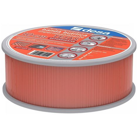 DESA 81400101 - Banda butilica ancho 10 cm color TEJA rollo 10 m