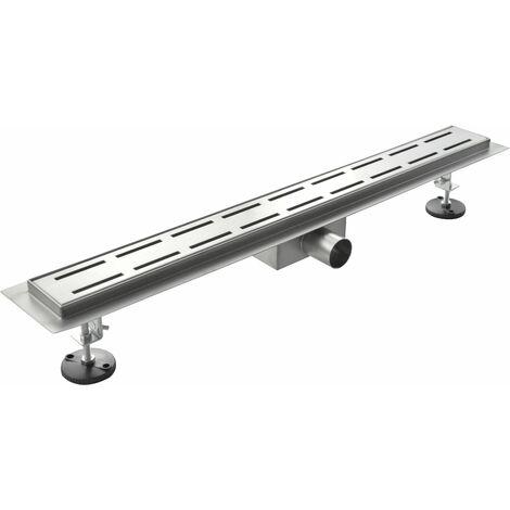 Canaleta de ducha de acero inoxidable modelo linea - 60 cm