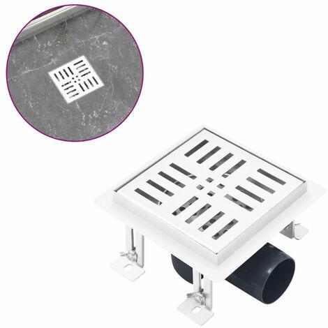 Desague de ducha con cuadrados de acero inoxidable 12x12 cm