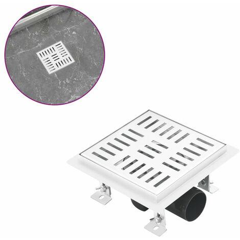 Desague de ducha con cuadrados de acero inoxidable 15x15 cm