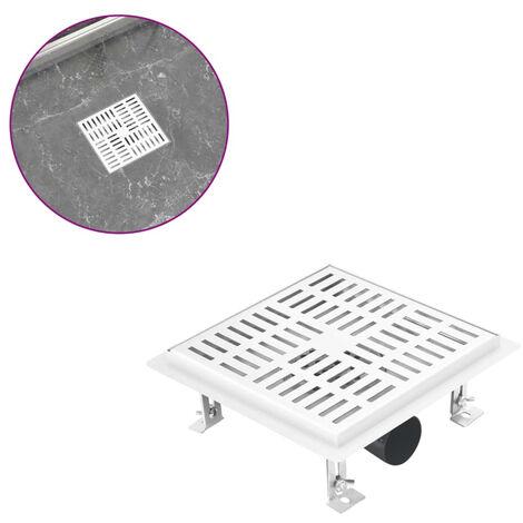 Desague de ducha con cuadrados de acero inoxidable 20x20 cm