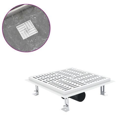 Desague de ducha con cuadrados de acero inoxidable 25x25 cm