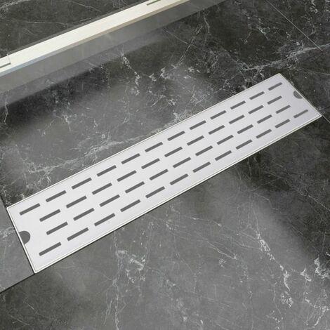Desague lineal de ducha 530x140 mm acero inoxidable