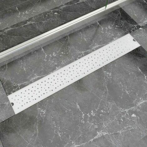 Desague lineal de ducha burbuja 830x140 mm acero inoxidable