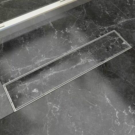 Desague lineal de ducha de acero inoxidable 530x140 mm