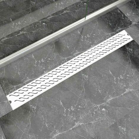 Desague lineal de ducha ondas 1030x140 mm acero inoxidable