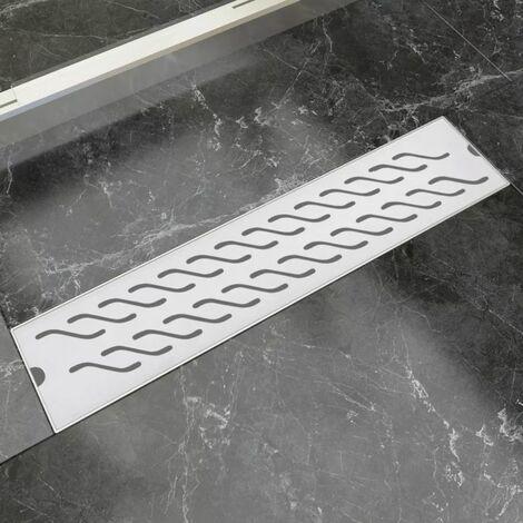 Desague lineal de ducha ondas 530x140 mm acero inoxidable