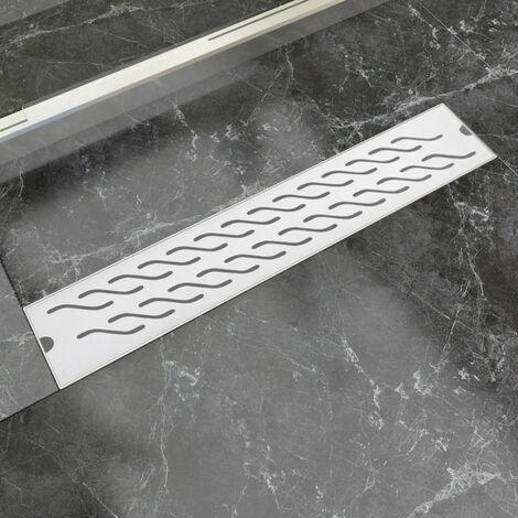Desague lineal de ducha ondas 630x140 mm acero inoxidable