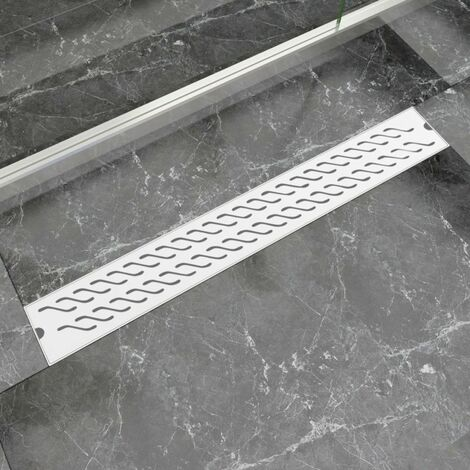Desague lineal de ducha ondas 830x140 mm acero inoxidable