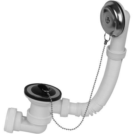 Desagüe bañera extensible con tubo coarrugado 1\' 1/2 PVC (Mirtak BO-43600)