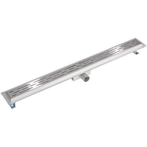 Desagüe de acero inoxidable - canaleta para cuarto de baño, desagüe universal de acero inoxidable, sumidero con sifón antiolores