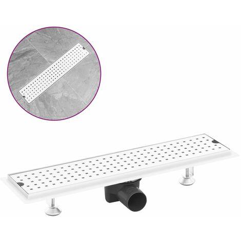 Desagüe de ducha de puntos acero inoxidable 53x14 cm