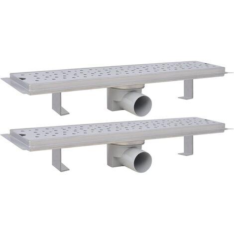 Desagüe ducha lineal 2 pzs burbuja 530x140 mm acero inoxidable
