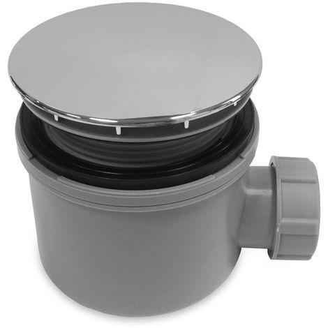 Desagüe horizontal para plato de ducha acrílico y resina de Ø90mm, altura 90mm