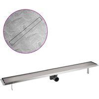 Desagüe lineal de ducha 1030x140 mm acero inoxidable