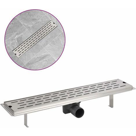 Desagüe lineal de ducha 630x140 mm acero inoxidable