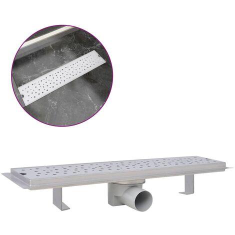 Desagüe lineal de ducha burbuja 530x140 mm acero inoxidable