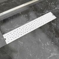 Desagüe lineal de ducha burbuja 630x140 mm acero inoxidable
