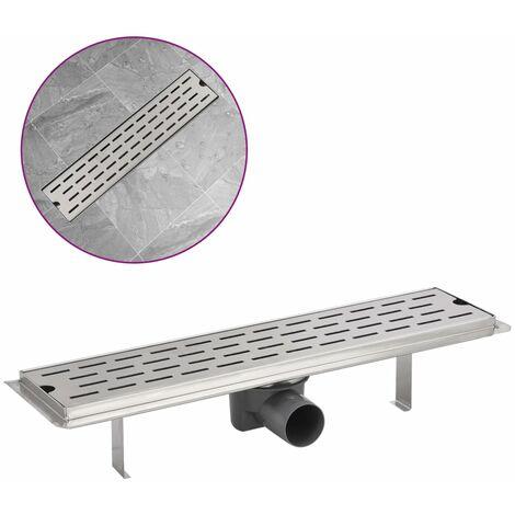 Desagüe lineal de ducha de acero inoxidable 530x140 mm